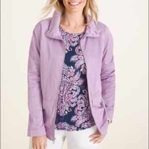Chico's Collar Detail Anorak Jacket in Lilac